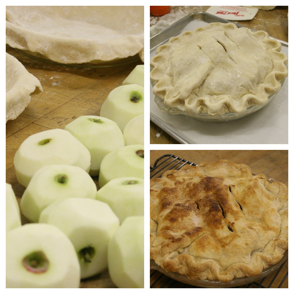 homemade apple pie with local apples
