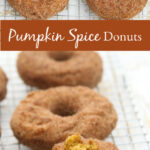 pumpkin donuts on baking rack
