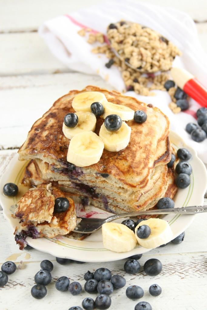 Banana-Blueberry Pancakes