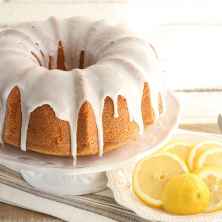Lemon Bundt Pound Cake with lemon icing