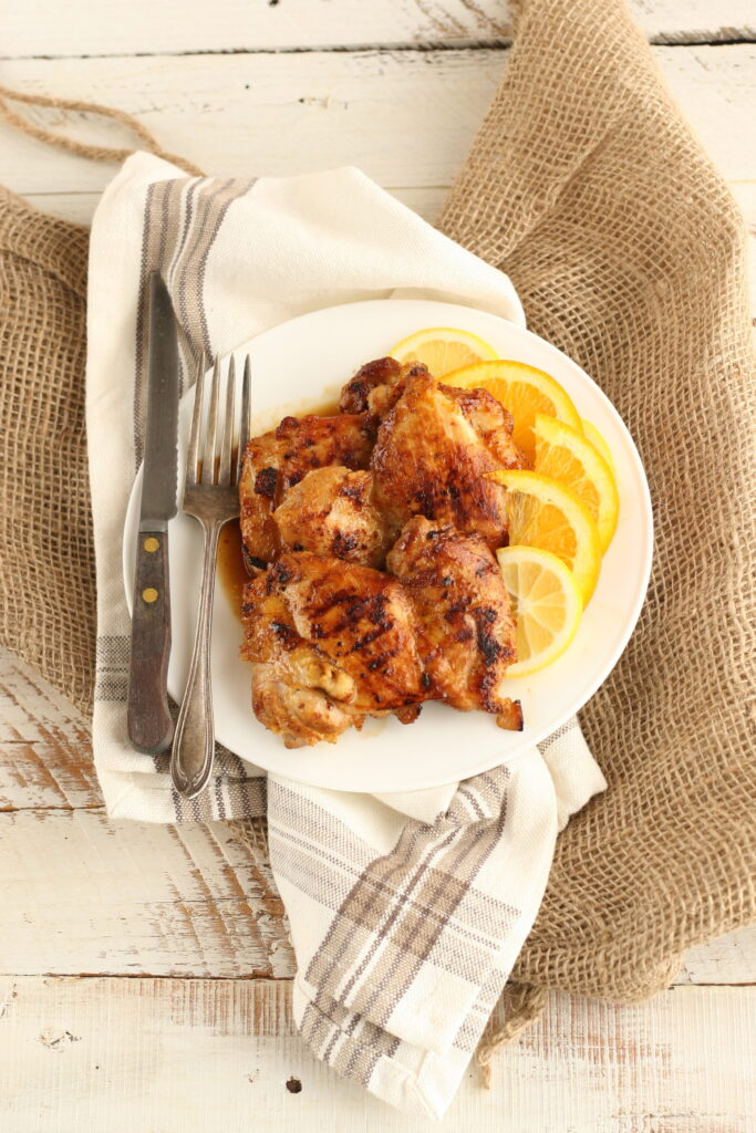 Citrus Marinated chicken thighs