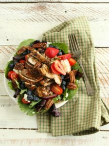 Blueberry Strawberry Garden salad