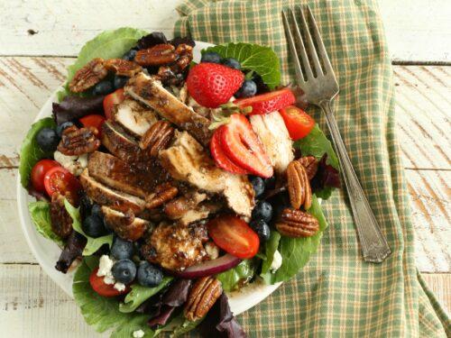 Blueberry Strawberry Garden salad