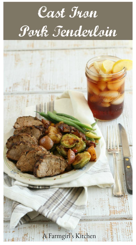 Cast Iron Pork Tenderloin is super simple to prepare and wondefully moist. #porktenderloin #recipes #foodblogger