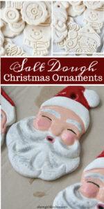 Santa ornaments made from Salt dough