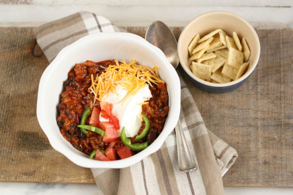 Hearty homemade chili