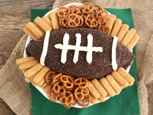 Brownie Batter football dip