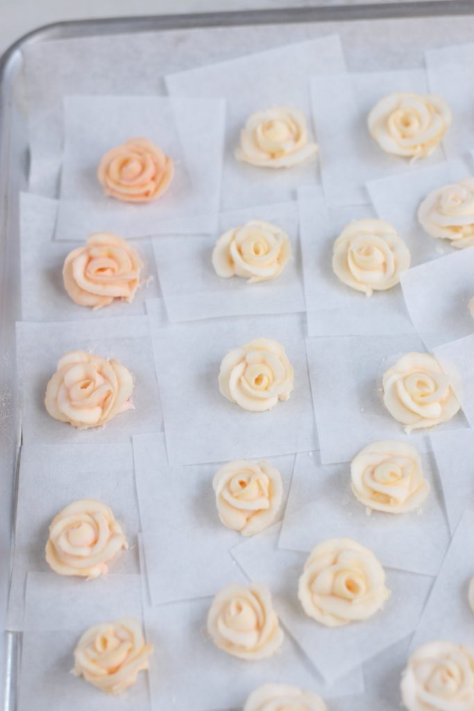 handmade royal icing mini roses