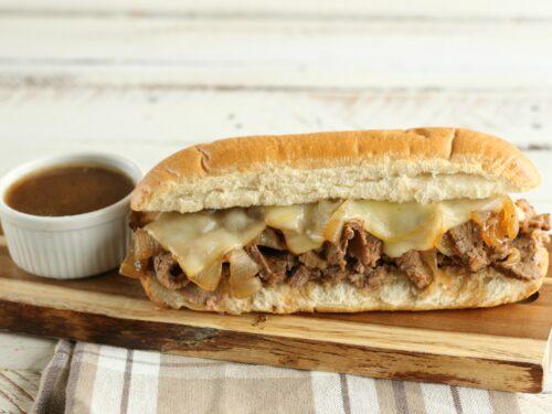 French Dip sandwich with au ju