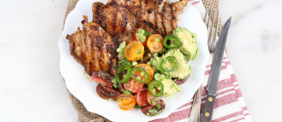Southwestern Chicken and Avocado Tomato Salad