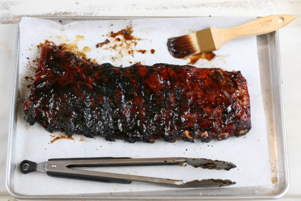Get grilling this summer with these Honey Balsamic Chipotle Ribs. #recipe #summergrilling #grilling #bbqribs #bbq #foodblogger