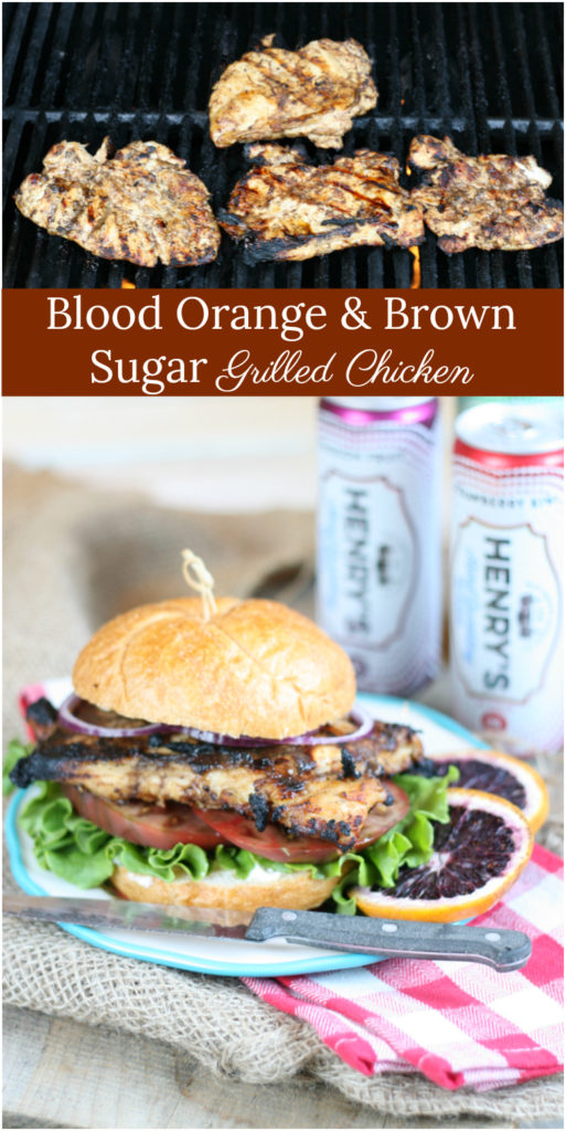 Blood Orange and Brown Sugar Grilled Chicken is the best chicken marinade ever! #bloodorangechicken #bloodorange #recipes #grilling #grilledchicken