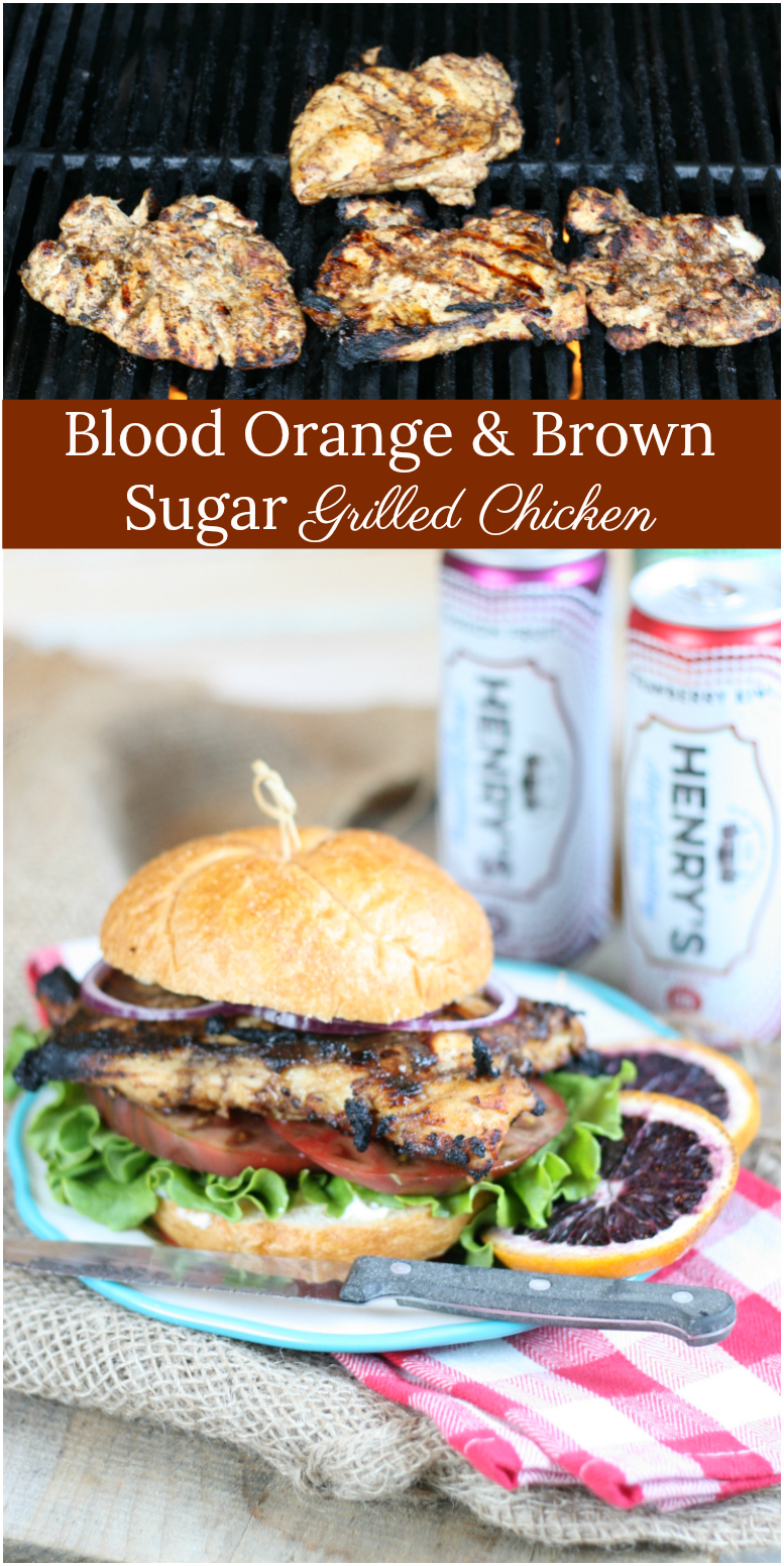 Get grilling this summer with this delicious Blood Orange and Brown Sugar Grilled Chicken! #recipes #grilling #bloodorange #foodblogger #afarmgirlskitchen #grilledchicken
