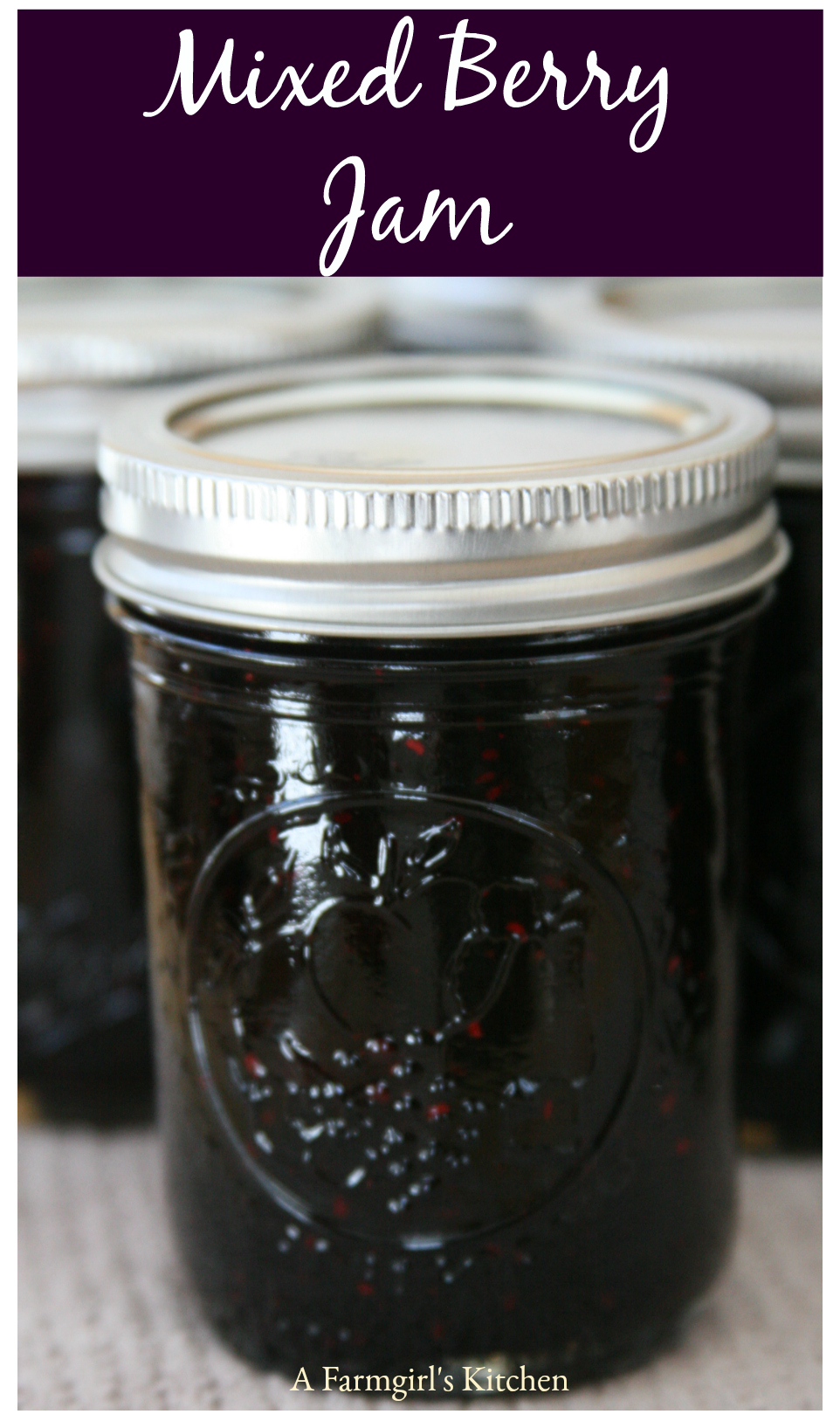 Learn how to can this delicious Mixed Berry Jam. #recipe #foodblogger #homemade