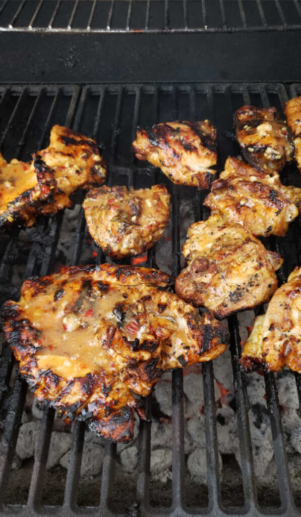 grilled chicken on charcoal grill