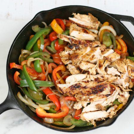 Cast Iron Chicken Fajitas