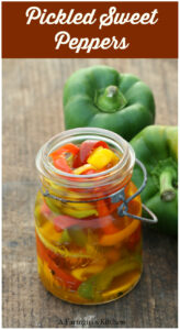 Sweet Peppers pickled in a Mason Jar