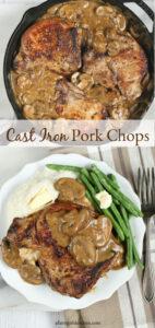 pork chops in cast iron skillet
