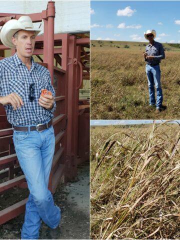Farmer Matt explaining his cattle ranch operation