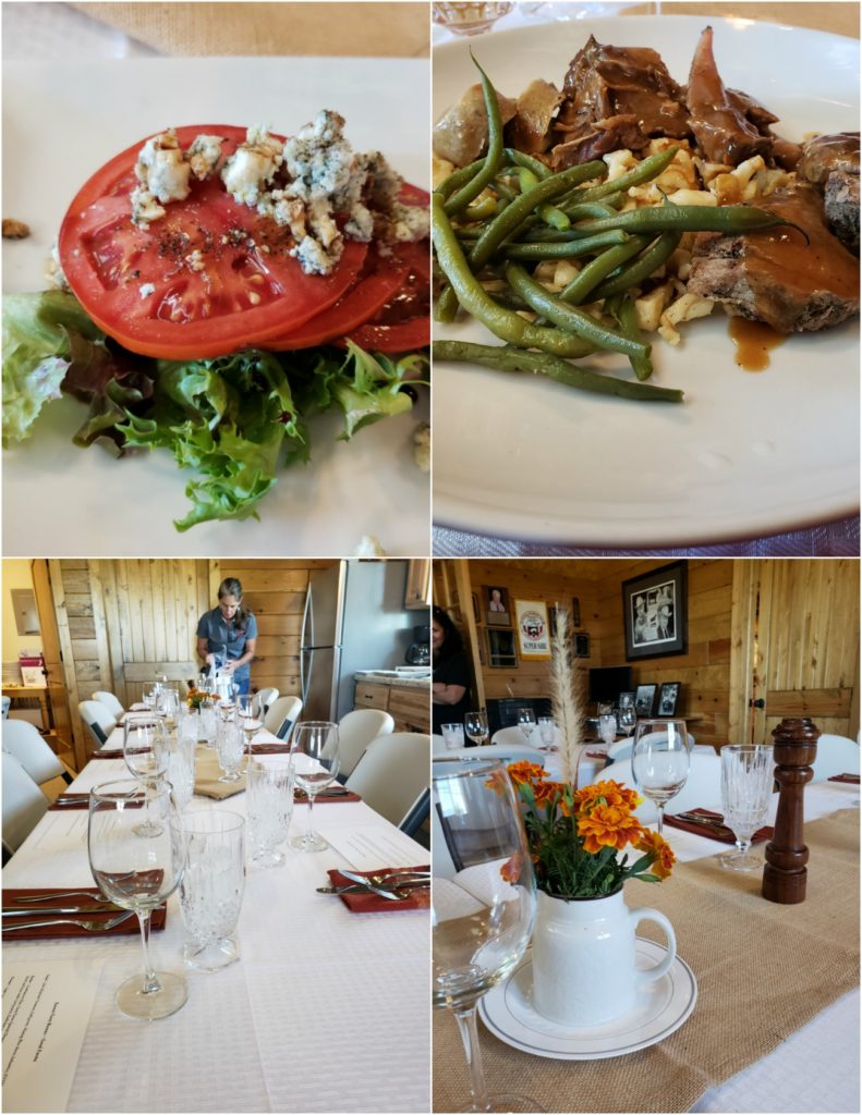 Farm to table lunch at Good Farms in Kansas