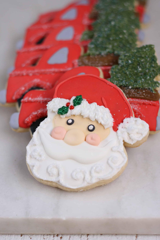 Royal Icing Christmas Cookies.Heart Decorated Sugar Cookies