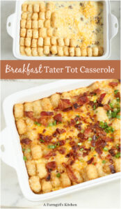 tater tot breakfast casserole with eggs and bacon