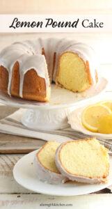Bundt cake with lemon icing