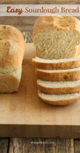 sliced sandwich bread on cutting board