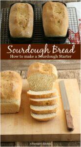 sourdough bread in cast iron bread pans