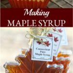 maple leaf shaped maple candy in red candy papers