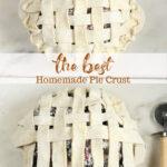 pie with lattice pie crust