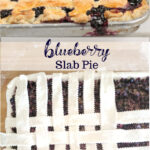 blueberry pie on a sheet pan