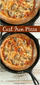 cast iron pizza homemade