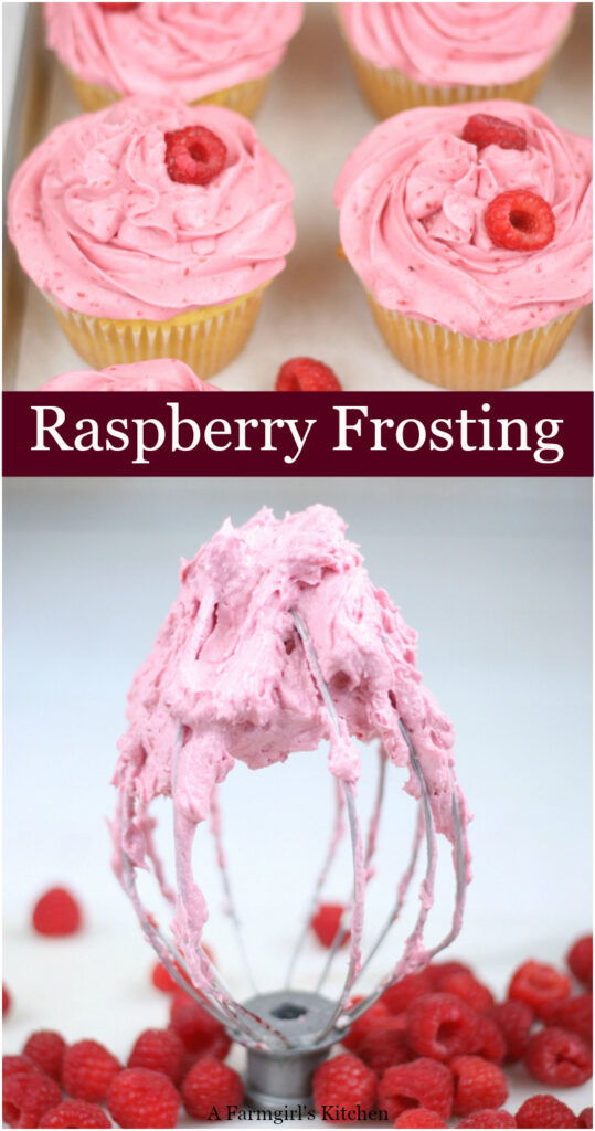 Raspberry Frosting on mixer beater