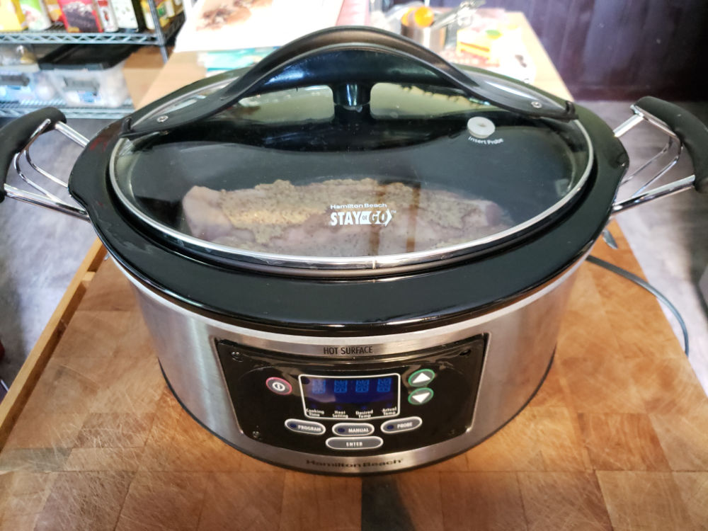 slow cooker with pork tenderloin for pulled pork