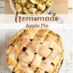 apple pie with homemade crust