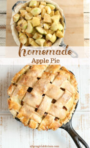 apple pie with homemade crust