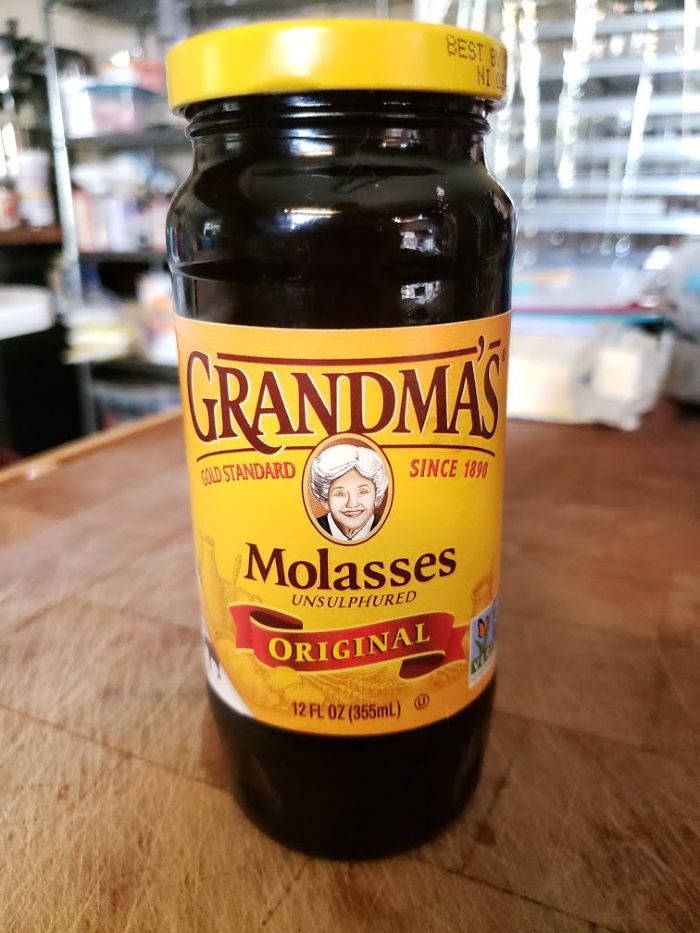 Grandma's molasses on butcher block