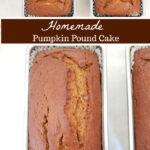 pumpkin loaf cake in loaf pans cooling
