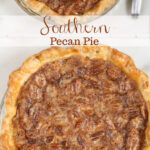 Pecan pie with homemade pie crust