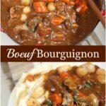 Boeuf Bourguignon in a Dutch oven