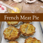 Meat pies on butcher block
