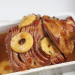 spiral cut ham with pineapple slices