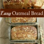 loaves of oat bread cooling on baking rack